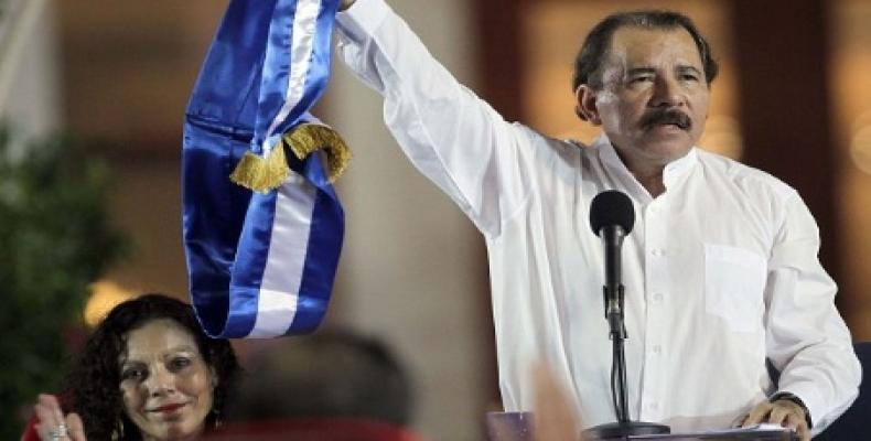 El reelegido presidente nicaragüense, Daniel Ortega