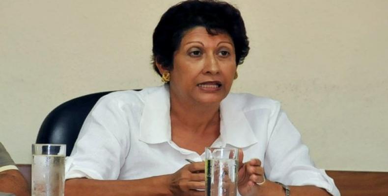 Cuban Minister of Education, Ena Elsa Velázquez Cobiella.