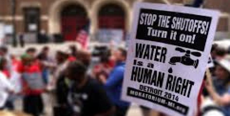 U.S. city of Detroit could shut off water to thousands.  Photo: Twitter photo