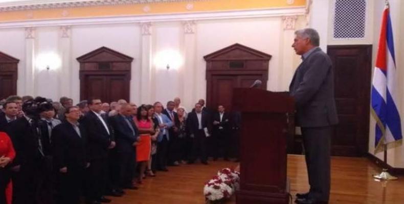 La Misión Permanente de Cuba ante la ONU fue el escenario de esta reunión. Foto tomada de Cubadebate
