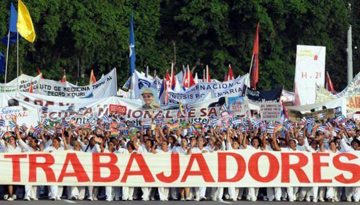 Demostración de la unidad indestructible del pueblo de Cuba. Foto: Archivo