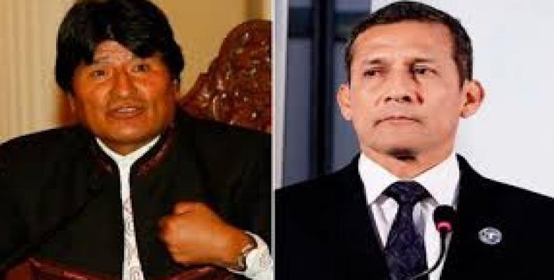 Evo Morales y Ollanta Humala