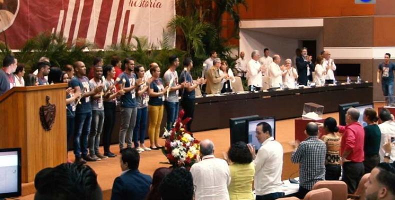 Clausura del IX Congreso de la Federación Estudiantil Universitaria, FEU. Foto/PL