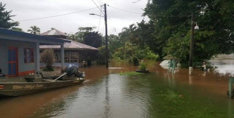 The National Meteorological Institute predicts rainfall to continue until Thursday.   Photo: Facebook: Comisión Nacional de Emergencias