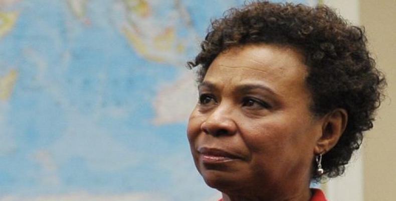 La Representante Bárbara Lee. Foto: Cubadebate.