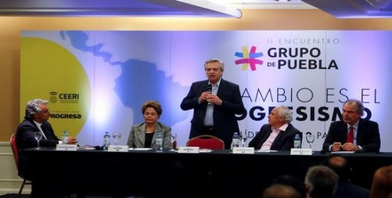 Argentina's President-elect Alberto Fernandez at Grupo de Puebla meeting in Buenos Aires. (Photo: Reuters)