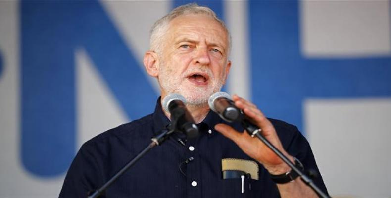 File photo shows UK Labour Party leader Jeremy Corbyn.  Photo: BBC