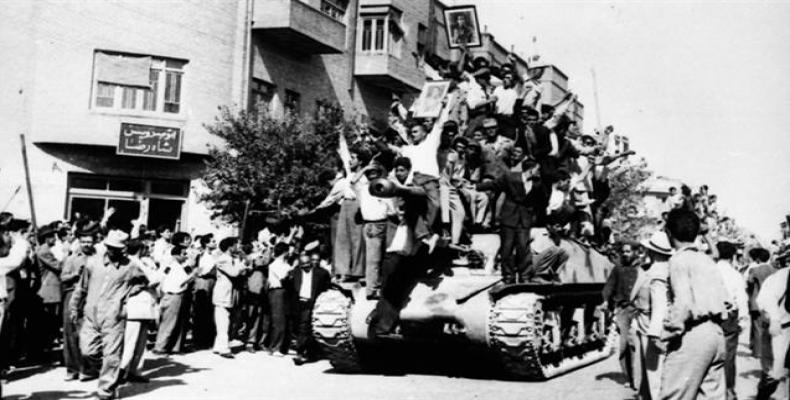 Archive picture shows riots on August 19, 1953, when a US- and UK-engineered coup toppled Iran's democratically-elected government.   Photo: Press TV