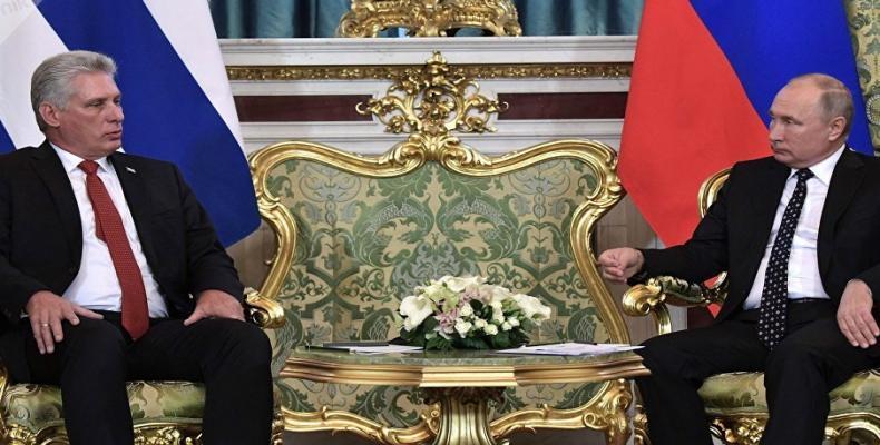 Fin octobre 2019, le président russe Vladimir Poutine et Miguel Díaz-Canel se sont entretenus à Moscou.