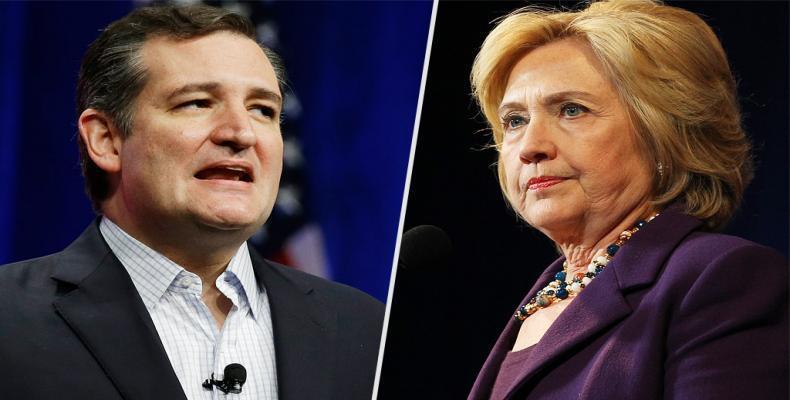 Cruz y Clinton deberán persuadir a votantes en los 49 estados restantes para asegurar su postulación en los comicios del 8 de noviembre/ Foto: people.com