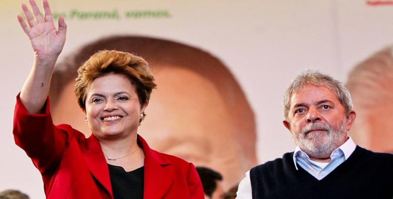 Dilma Rousseff y ex mandatario Luiz Inácio Lula