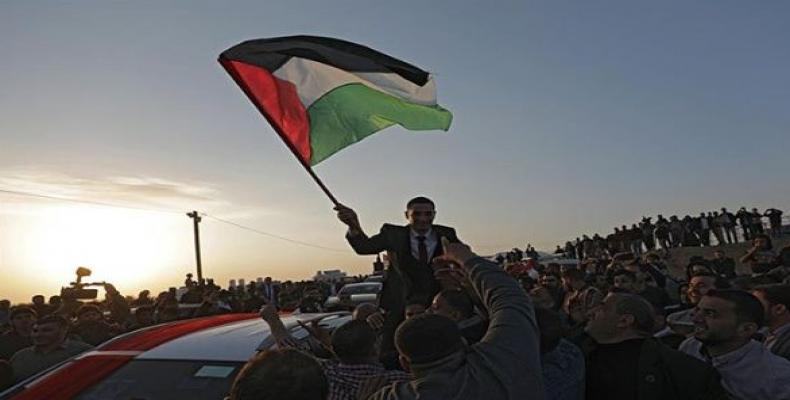"""Thousands of Palestinians join the """"Great March of Return"""" on Land Day. Photo EFE"""