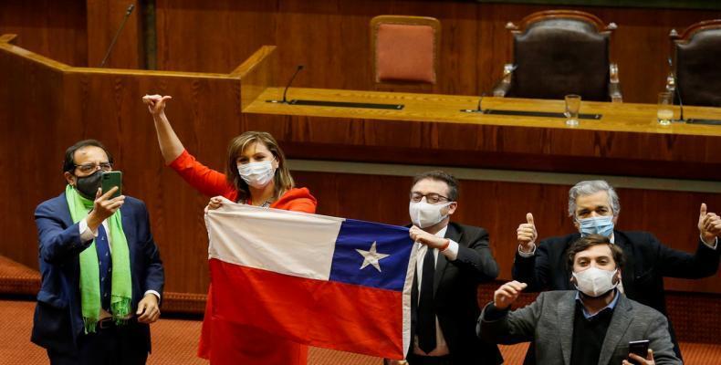 Legisladores chilenos en Valparaíso. 23 de julio de 2020.Rodrigo Garrido / Reuters