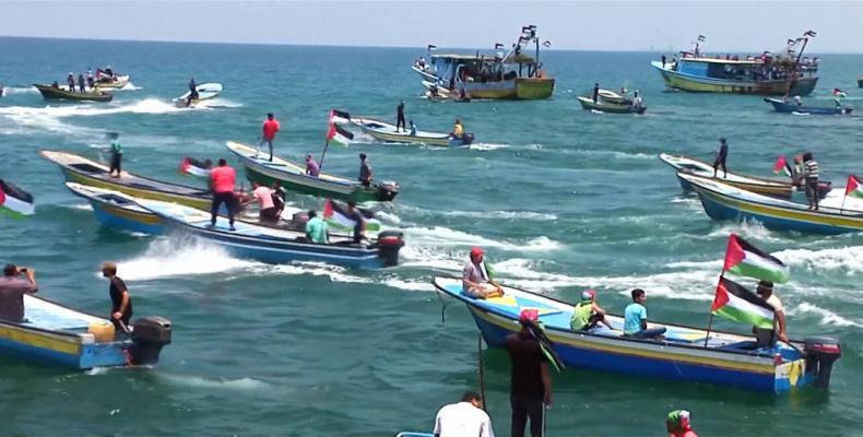 Flotilla to break blockade of Gaza.  Photo: Democracy Now