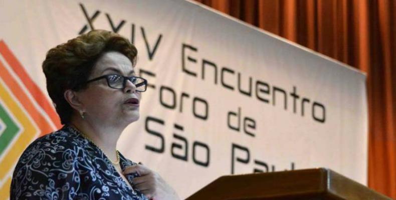 Dilma Rousseff en el Foro de Sao Paulo de La Habana