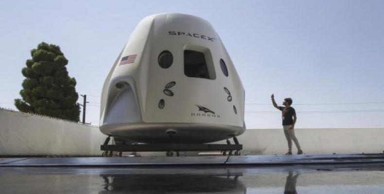 El primer vuelo tripulado de la Crew Dragon se realizará luego de uno de prueba en noviembre sin tripulación para recibir el aval de la NASA.Imágen:Interne.t