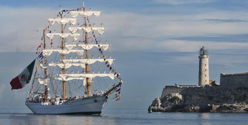 Esta visita forma parte del Crucero de Instrucción Velas Latinoamérica 2018, que la nave inició recientemente.