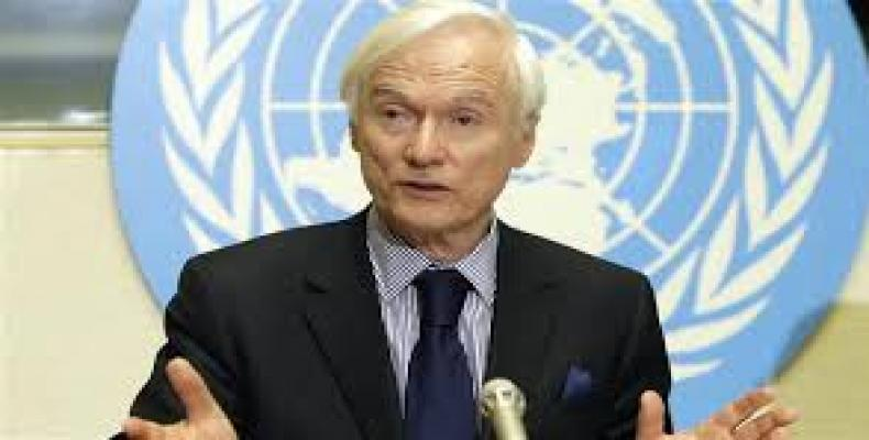 UN Special Rapporteur on the Negative Impact of Sanctions, Idriss Jazairy. File Photo