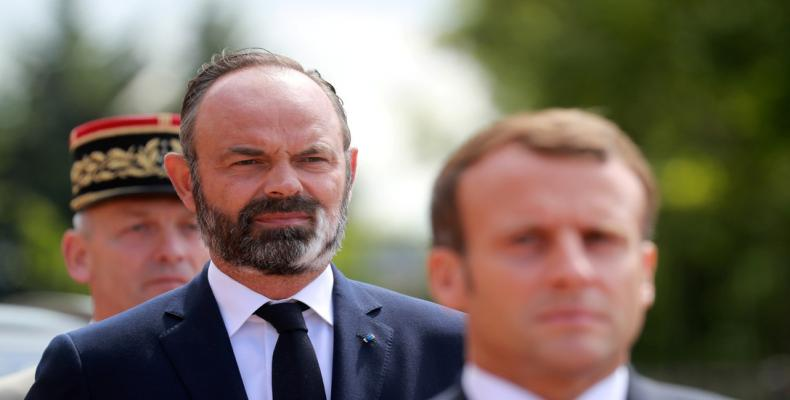 Édouard Philippe y Emmanuel Macron en París, Francia, 18 de junio 2020.Ludovic Marin / Reuters