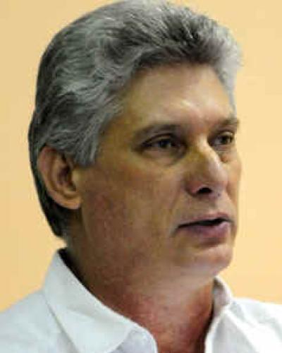 Presidente cubano Miguel Díaz-Canel Bermúdez