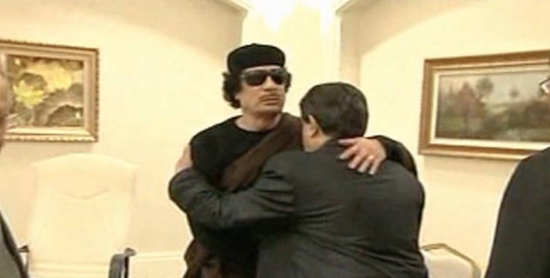 Former leader of Libya, Moammar Gaddafi.  Photo: AFP