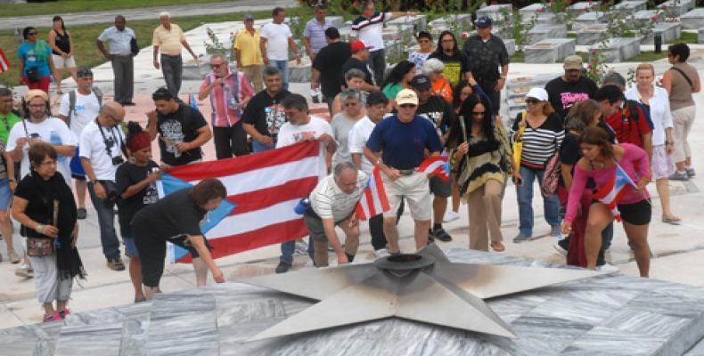 Brigada puertorriqueña en anterior visita
