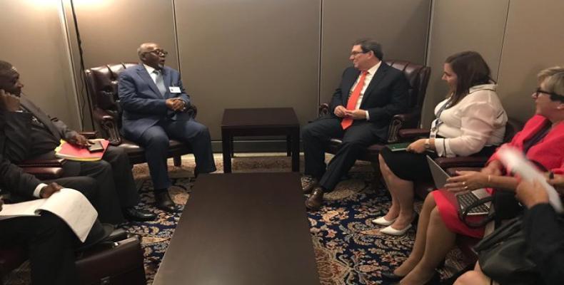 Le chef de la diplomatie cubaine s'est entretenu avec son homologue du Cameroun dans le cadre de l'Assemblée générale de l'ONU en septembre dernier.