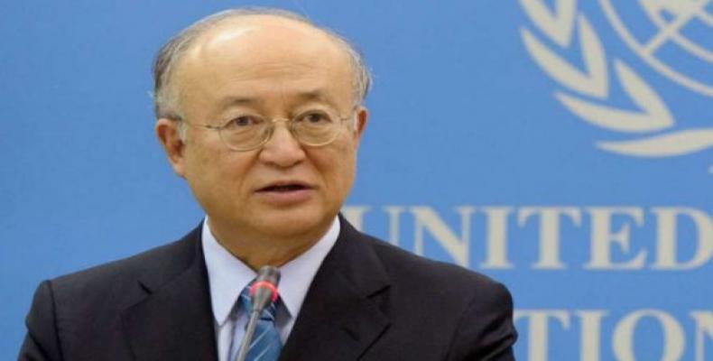 La ĝenerala direktoro de OIEA, Yukiya Amano.