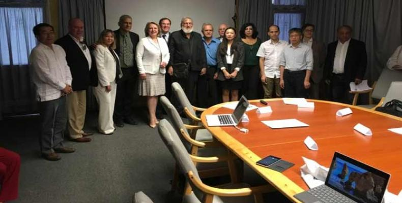 Delegaciones de Cuba, China y Canadá. Foto/Prensa Latina.