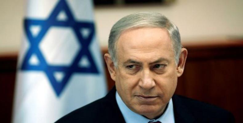 Primer ministro en funciones de Israel, Benjamín Netanyahu,