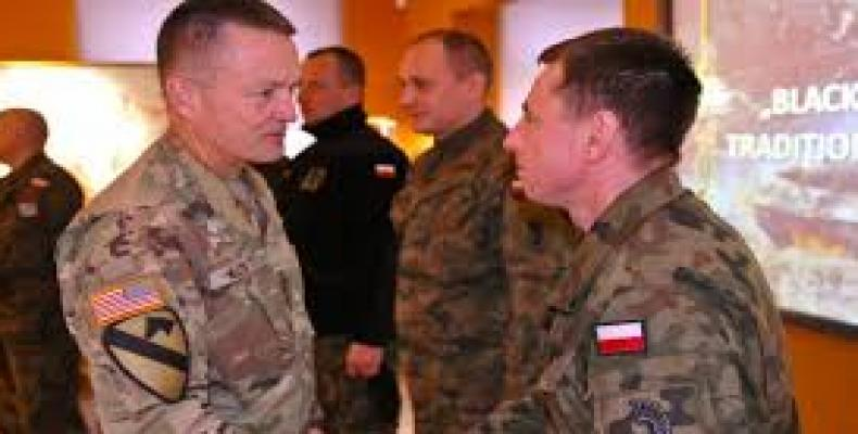 U.S. considers building permanent military base in Poland.   Photo: Google