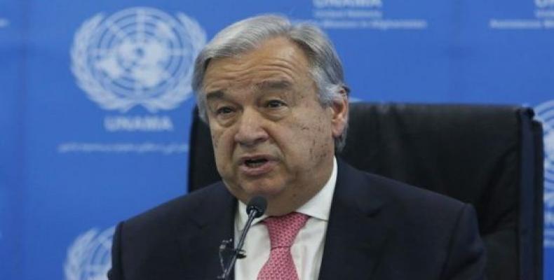 António Guterres, ĝenerala sekretario de  UN