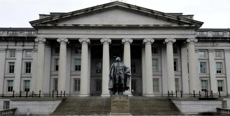 This file photo shows the US Treasury building in Washington.  Photo: Google