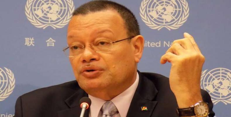 Representante permanente de Seychelles ante la ONU, Ronny Jumeau. Foto tomada de PL