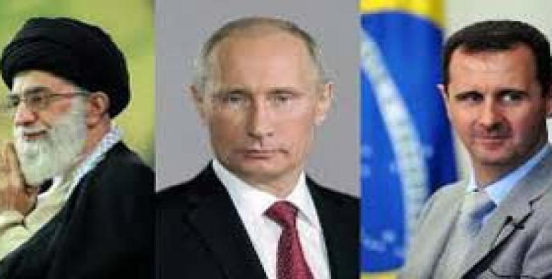Máximos líderes de Irán, Rusia y Siria