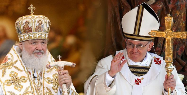 Papa Francisco y Patriarca de Moscú, Kiril