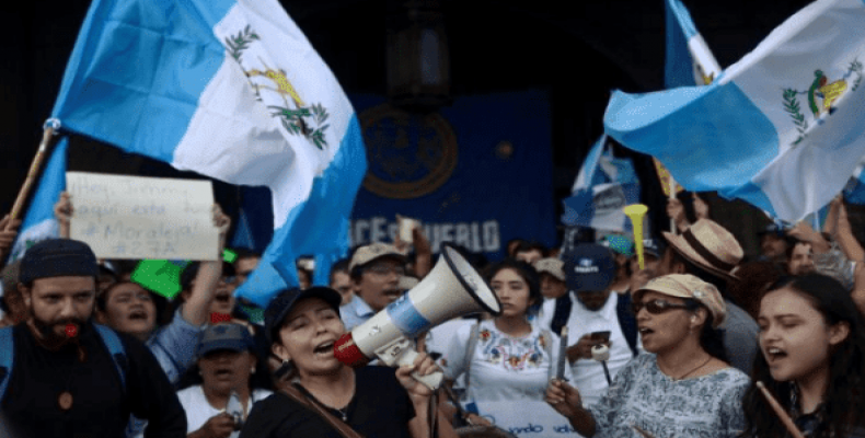 Guatemalan President Jimmy Morales also faced protest in August of 2017.  Photo: Reuters