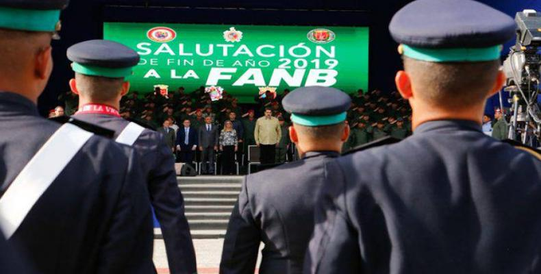 Nicolas Maduro during year-end event for Bolivarian National Armed Forces (FANB).  (Photo: VTV)