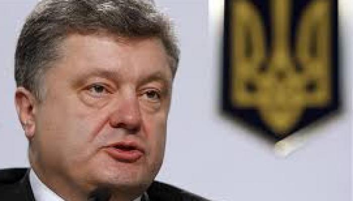 Presidente ucraniano, Petro Poroshenko,