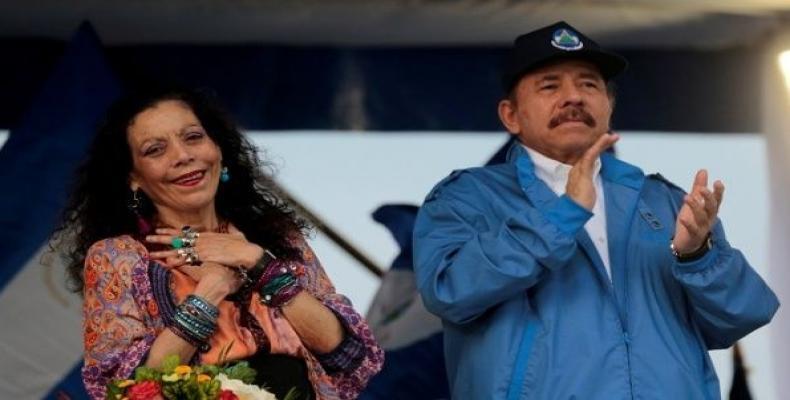 Nicaraguan President Daniel Ortega and Vice-President Rosario Murillo.  Photo: Reuters FILE