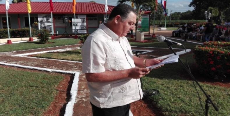 Palmero comentó sobre las prácticas agroecológicas que se realizan en nuestro país. Fotos: Lorenzo Oquendo