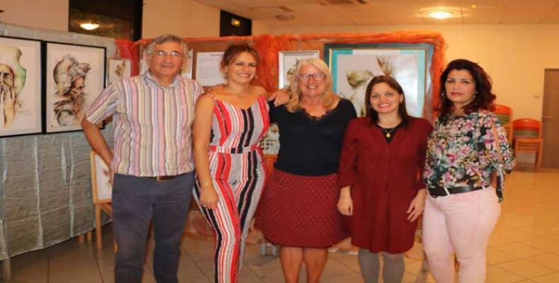 Artistas cubanos inauguran exposición en Francia (+Fotos). Foto: PL.