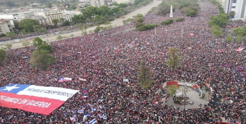 Masivas protestas en Chile entra en la séptima semana
