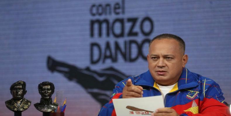 Diosdado Cabello, unua  vicprezidanto de la socialista  partio