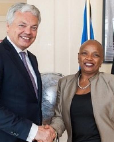 Didier Reynders a abordé les préparatifs de sa visite à Cuba avec l'ambassadrice de notre pays en Belgique