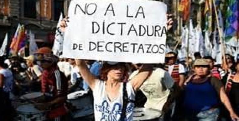 Anuncian otras protestas como esta en Argentina