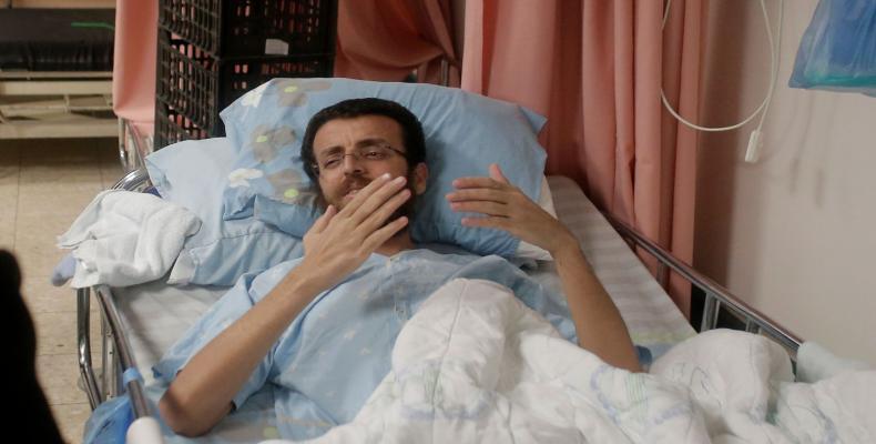 Periodista palestino Mohamed Al Qig (Foto/ lexpansion.lexpress.fr)