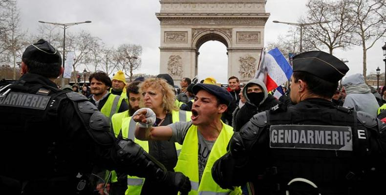 French police repress Yellow Vest protest (Photo: File)