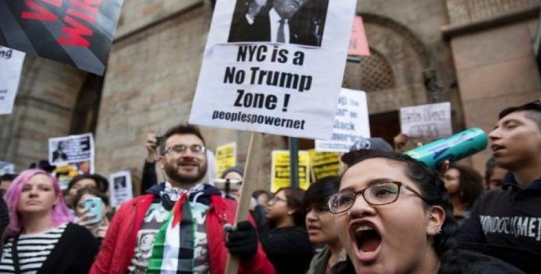 Una anterior protesta contra Trump en Nueva York.  Foto: Reuters
