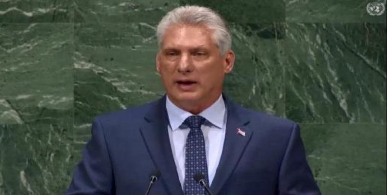 El presidente cubano denunció que América Latina es escenario de persistentes amenazas. Foto tomada de Cubaminrex